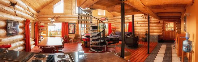 Inside Mountain Chalet